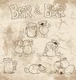 BearBeer vector image