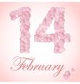 beautiful heart pink rose petals vector image