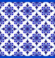 blue and white thai pattern vector image vector image