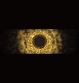 blur abstract dark background golden burst vector image vector image
