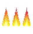 bonfire set design element vector image vector image