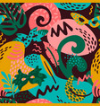 brazil carnival seamless pattern with vector image