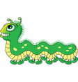 Caterpillar cartoon vector image vector image