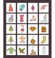 Christmas icons Abstract vector image