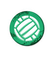 circle green volleyball grunge board vector image vector image