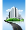 City and road vector image vector image