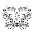 classic black pattern damask orient vector image