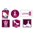 Clothing fashion icon set vector image