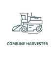 combine harvester line icon linear concept vector image vector image