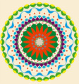 drawing of color mandala vector image