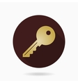 Fine Key Flat Icon vector image vector image