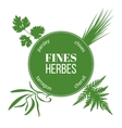 Fines herbes flat silhouettes vector image vector image