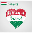 flag heart of hungary national brand vector image vector image