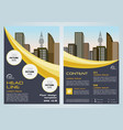 flyer with dark blue and yellow lines vector image vector image