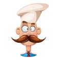 funny cute cartoon man mustache vector image vector image