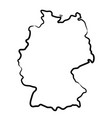 germany map from contour black brush lines vector image vector image