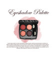 hand drawn color sketch of an eyeshadow palette vector image vector image