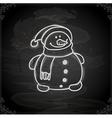 Hand Drawn Happy Snowman vector image vector image