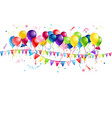 holiday balloons and flags vector image