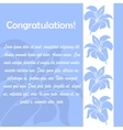 Invitation cards with floral elements vector image