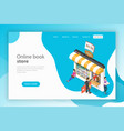 isometric flat landing page template fo vector image