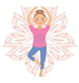 kid yoga positions vector image vector image