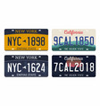 license plates isolated on white background new vector image vector image