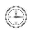 line clock symbol icon design vector image vector image