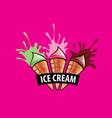 logo ice cream vector image