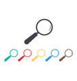 magnify glass icon lupe for look search loupe vector image vector image