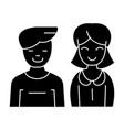 man and woman - icon blac vector image