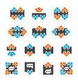 meeting and participate icon set vector image vector image