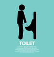 Men Toilet Sign vector image vector image