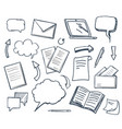 office paper books and pencil icons set vector image vector image