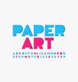 paper cut font vector image vector image