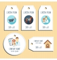 Pet clinic discount gift tags Ready to use Flat vector image vector image
