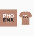 phoenix stylish t-shirt and apparel design vector image vector image
