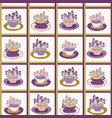 pretty flower cup grid bouquet of pansy pattern vector image