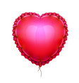 realistic air balloon in shape of elegant heart vector image vector image