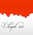 red paint dripping from a wall vector image vector image
