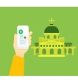 Religious tourism vector image vector image