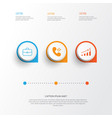 resources icons set collection of briefcase vector image vector image