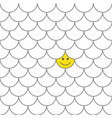 seamless pattern fish scales with smiling happy vector image vector image