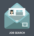 Search for job sending CV vector image