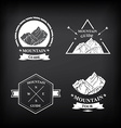 Set of expedition badges vector image vector image