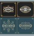 set of vintage and western labels vector image vector image