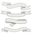 sketch of ribbons vector image vector image