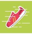 sneaker on green backround vector image vector image