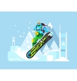 Snowboarder cartoon character vector image