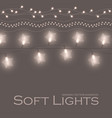 soft shining light garlands collection vector image